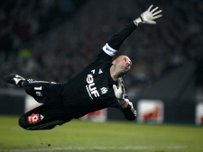 Football : Championnat de France de ligue 1 (L1)Match Lyon  OM  au stade GerlandFabien BARTHEZ