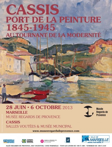 Affiche Expo CASSIS Musee Regards de Provence