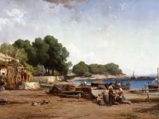 courdouan-v-pecheurs-sur-le-rivage-de-l-ile-ste-marguerite-bd