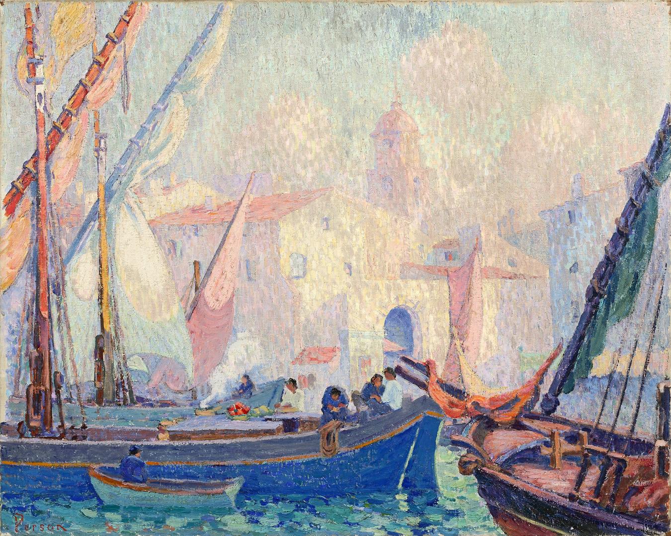 Artiste Peintre St Tropez henri person. naviguer en couleurs | musée regards de provence