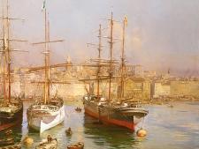 etienne-martin-voiliers-dans-vieux-port-marseille