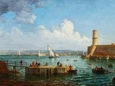 ponson-raphael-pecheurs-devant-entree-du-vieux-port-bd