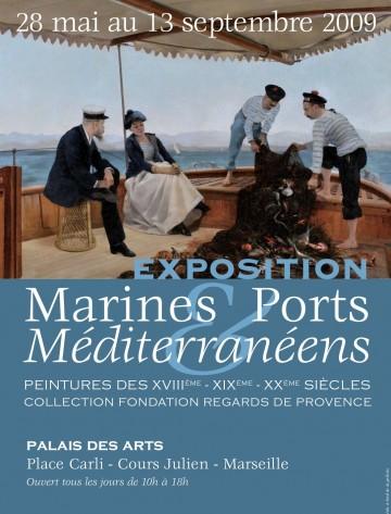 Affiche marine_port_mediterraneen
